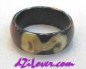 1 Eye + Lotus dZi Ring / แหวนหินทิเบต 1 ตา + ดอกบัว [82895]