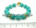 Amazonite Bracelet / สร้อยข้อมืออมาโซไนต์ [13121354]
