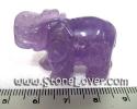 Amethyse Cut Shape / หินแกะสลักอเมทิสต์-รูปช้าง [13010460]