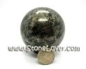 Ball Black Tourmaline and Pyrite / หินทรงกลมแบร็คทัวร์มาลีน [130