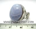 Bluelace Agate Ring / แหวนบลูเลซ อาเกต [13010551]
