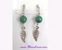 Malachite Earrings / ต่างหูมาลาไคต์ [42604]