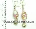 Rose Quartz Earrings / ต่างโรสควอตซ์ [13121335]