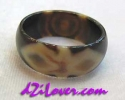 1 Eye + Dorje Motif dZi Ring / แหวนหินทิเบต 1 ตา + วัชระ [84195]