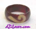 1 Eye + Ru Yi dZi Ring / แหวนหินทิเบต 1 ตา + หรูยี่ [84590]