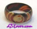 1 Eye dZi Ring / แหวนหินทิเบต 1 ตา [80190]