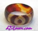 1 Eye dZi Ring / แหวนหินทิเบต 1 ตา [80191]