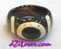1 Eye dZi Ring / แหวนหินทิเบต 1 ตา [80192]