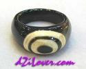 1 Eye dZi Ring / แหวนหินทิเบต 1 ตา [80193]