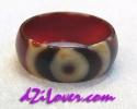 1 Eye dZi Ring / แหวนหินทิเบต 1 ตา [80195]