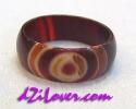 1 Eye dZi Ring / แหวนหินทิเบต 1 ตา [80197]