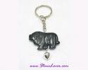 Agate Key Chain / พวงกุญแจอาเกต-รูปสิงห์โต [30367]