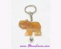 Agate Key Chain / พวงกุญแจอาเกต-รูปช้าง [30368]
