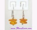 Amber Earrings / ต่างหูอำพัน [40601]