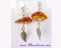 Amber Earrings / ต่างหูอำพัน [40604]