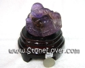 Amethyse Cut Shape / หินแกะสลักอเมทิสต์-พระสังฆจายร์ [13010402]