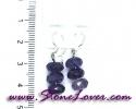 Amethyst Earrings / ต่างหูอเมทิสต์ [08064650]