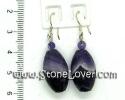 Amethyst Earrings / ต่างหูอเมทิสต์ [13121337]