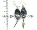 Amethyst Earrings / ต่างหูอเมทิสต์ [13121339]