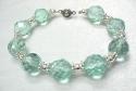 Aquamarine Bracelet / หินแกะสลักโรส ควอตซ์ [07120403]