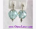 Aquamarine Earrings / ต่างหูอความารีน [40455]