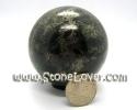 Ball Black Tourmaline and Pyrite / หินทรงกลมแบร็คทัวร์มาลีน + ไพ