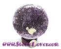 Ball Geode Amethyst / หินทรงกลมอเมทิสต์-ถ้ำโพรง [10058280]