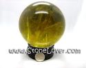 Ball Rutilated Quartz / หินทรงกลมไหมทอง [13030573]