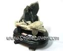 Black Quartz Cluster / กลุ่มแท่งหินแบล็คควอตซ์ [13010366]