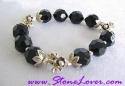 Black Spinel Bracelet / สร้อยข้อมือนิล [24443]