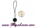 Black Spinel Mobile/Bag Hanging / สายห้อยกระเป๋า/มือถือ นิล [080