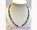 Black Spinel Necklace / สร้อยคอนิล [14412]