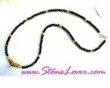 Black Spinel Necklace / สร้อยคอนิล [14414]