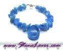 Blue Agate Bracelet / สร้อยข้อมือบลู อาเกต [08064716]