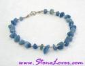 Blue Agate Bracelet / สร้อยข้อมือบลู อาเกต [20370]