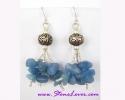 Blue Agate Earrings / ต่างหูบลู อาเกต [40380]