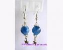 Blue Agate Earrings / ต่างหูบลู อาเกต [40381]