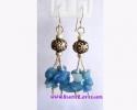 Blue Agate Earrings / ต่างหูบลู อาเกต [40382]