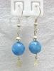 Blue Agate Earrings / ต่างหูบลู อาเกต [40354]