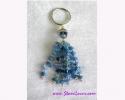 Blue Agate Key Chain / พวงกุญแจบลู อาเกต [30372]