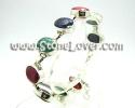 Blue Sapphire and Emerald  Ruby Bracelet / สร้อยข้อมือไพลินและมร