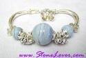 Bluelace Agate Bracelet / สร้อยข้อมือบลูเลซ อาเกต [20340]