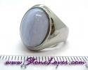 Bluelace Agate Ring / แหวนบลูเลซ อาเกต [09056818]
