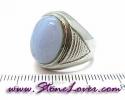 Bluelace Agate Ring / แหวนบลูเลซ อาเกต [08085345]