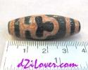 Bodhi Leaf dZi Bead / หินทิเบตใบโพธิ์ [00P002]
