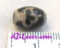 Bodhi Leaf dZi Bead / หินทิเบตใบโพธิ์ [00P010]