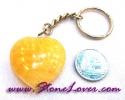 Calcite Key Chain / พวงกุญแจแคลไซต์-รูปหัวใจ [07121202]
