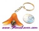 Carnelian Key Chain / พวงกุญแจคาร์เนเลี่ยน-รูปดอกไม้ [07121238]|