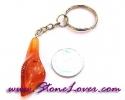 Carnelian Key Chain / พวงกุญแจคาร์เนเลี่ยน-รูปดอกไม้ [07121233]