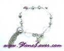 Clear Quartz Bracelet / สร้อยข้อมือควอตซ์ใส [08033233]